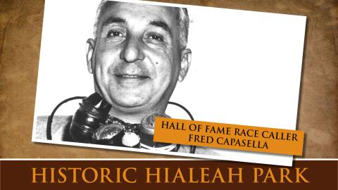 Hall of Fame Race Caller Fred Capasella