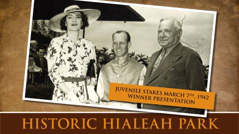 Juvenile Stakes March 7th, 1942 Winner Presentation