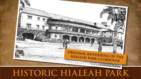 Original Rendering of the Hialeah Park Clubhouse
